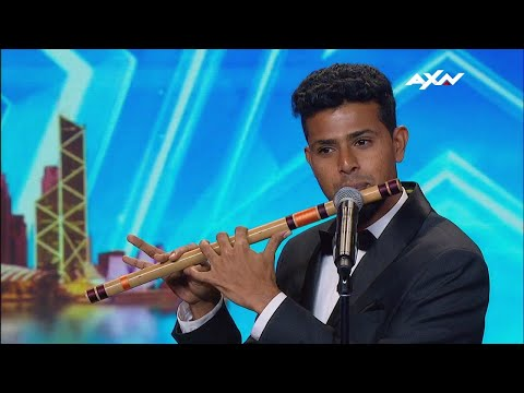 Fluteboxing by Sudhir.R in Asia's Got Talent