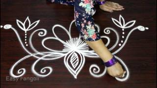 Download creative and innovative freehand easy rangoli designs || muggulu designs || freehand kolam designs Video