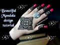 Download How to apply easy simple mandala gol tikki mehndi designs for hands tutorial for eid,weddings 2017 Video