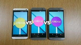 Download HTC One M9 VS M8 VS M7 Official Lollipop - Speed Test Video