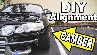 Download MAX CAMBER on my 1JZ Lexus (DIY drift alignment) Video