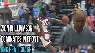 Download Zion Williamson Dunk Show In Front UNC Head Coach! Dominates State Quarter-Finals Full Highlights Video