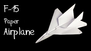 Download How to make an F15 Eagle Jet Fighter Paper Plane (Tadashi Mori) Video