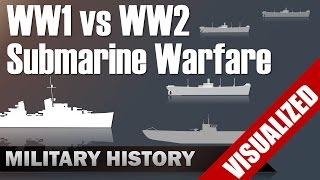 Download Submarine Warfare WW1 vs WW2 - Differences & Commonalities Video