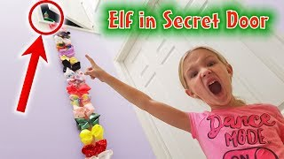 Download Prankster Elf on the Shelf Climbs JoJo Bow Ladder to Secret Door! Jinx Has Hidden Something! Video