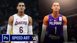 Download Lakers Jersey to Gilas Jersey | Jordan Clarkson | Photoshop Jersey Swapping Speed Art Video