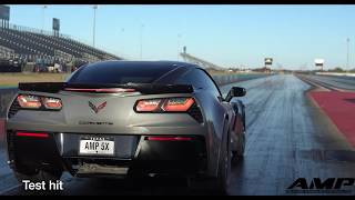Download AMP 5x Race C7Z Corvette runs 7.76 at 177 mph in the 1/4 Mile boost only with a Procharger F-1X!! Video