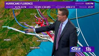Download Tropics Update: Tracking Hurricane Florence, other systems Monday, September 10, 2018 Video