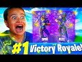 Download *SURPRISING* MY LITTLE BROTHER WITH THE NFL FOOTBALL SKINS! *EMOTIONAL* FORTNITE BATTLE ROYALE Video