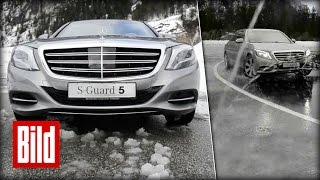 Download Driften mit Mercedes S-Klasse Guard: Wenn Bodyguards trainieren Video