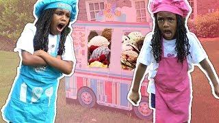 Download Fun Sisters Pretend Play Ice Cream Cart Truck Video