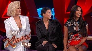 Download Jimmy Kimmel Interviews Kim, Kourtney & Khloé Kardashian in Las Vegas Video