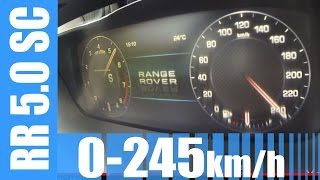 Download Range Rover 5.0 V8 Supercharged 510 HP 0-245 km/h BRUTAL! Acceleration & Top Speed Run Video