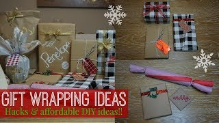 Download DIY GIFT WRAPPING IDEAS + SIMPLE HACKS // AFFORDABLE + PERSONALIZED GIFT WRAPPING Video
