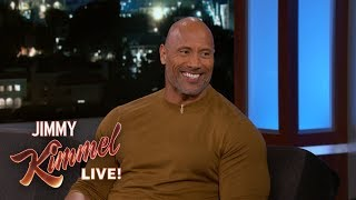 Download Dwayne Johnson Wants Jimmy Kimmel to Deliver His Baby Video