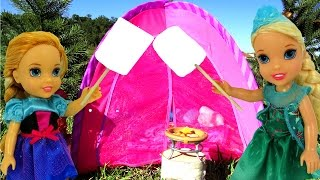 Download CAMPING ! ELSA & Anna Toddlers - Toy bear - Marshmallow - Tent- Picnic- Outdoors - Playing Video