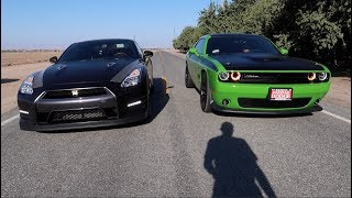 Download Nissan GTR vs 2017 Dodge Challenger T/A Video