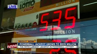 Download POWERBALL jackpot at $535 million Video