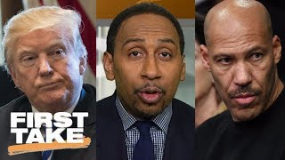 Download Stephen A. reacts to President Trump calling LaVar Ball an 'ungrateful fool' | First Take | ESPN Video