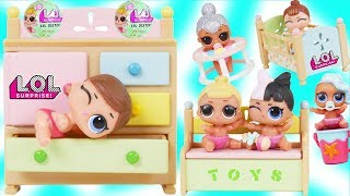 Download LOL Surprise Dolls Dress Up in School for Lil Sisters Rainbow Nursery - Toy Mystery Blind Bag Video Video