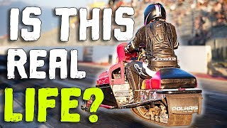 Download Snowmobile SHREDS Down the Track! Video