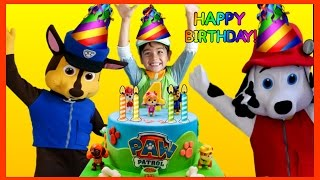 Download PAW PATROL Birthday Party in REAL LIFE Nickelodeon Opening Presents Surprise Toys PAW PATROL Videos Video