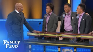 Download Steve meets the Jones brothers! | Family Feud Video