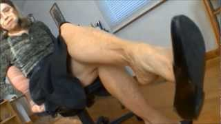 Download foot dangle tease & deny black flats Video