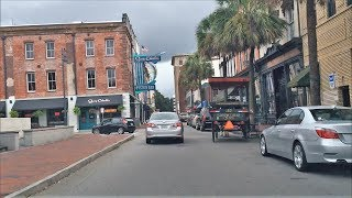 Download Driving Downtown - Savannah - USA Video