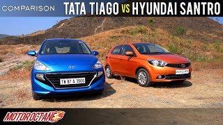 Download Tata Tiago vs Hyundai Santro 2019 Comparison | Hindi | MotorOctane Video