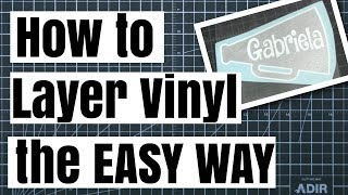 Download How to Layer 2 Color Vinyl without Registration Marks! The Easy Way! Video