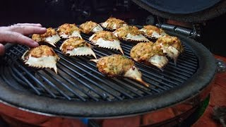 Download Stuffed Blue Crabs ~ Cooked On A Grill! Video