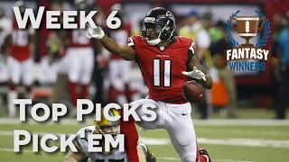 Download Top Picks in Week 6 Pick'Em | NFL DFS | DailyFantasyWinners Video