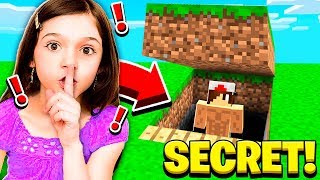 Download I FOUND MY LITTLE SISTER'S SECRET WORLD in Minecraft! Video