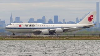 Download Air China Boeing 747-8i [B-2481] Stunning Takeoff from New York JFK Airport [Full HD] Video