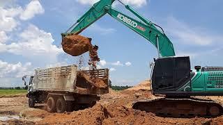 Download รีวิว kobelco sk200-10 and truck น้องใหม่ตัก ดินใส่ ดั้ม สิบล้อ ไอ้หลง EP.1585 Video