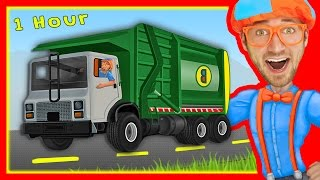 Download Explore Machines with Blippi   Garbage Trucks and More! Video