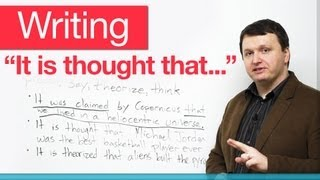 Download Writing - Passive verbs with 'that' clauses - ″It is thought that...″ Video