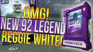 Download NEW 92 OVR REGGIE WHITE LEGEND! HOW TO GET A FREE 90 OVERALL LEGEND! Madden 18 Ultimate Team Video