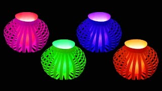 Download How to Make Fancy Paper Lantern Ball (Christmas Crafts) : HD Video