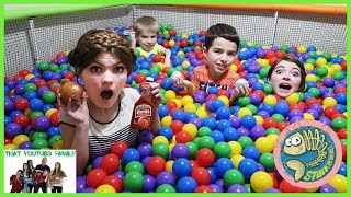 Download Mystery Ball Pit Food Surprise Challenge / That YouTub3 Family Video
