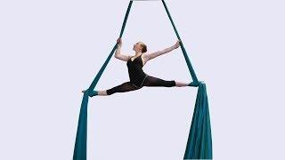 Download Beautiful aerial silks dancer Video