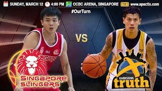 Download Singapore Slingers vs. Kaohsiung Truth | FULL GAME | 2016-2017 ASEAN Basketball League Video