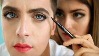 Download Girl Does Boy Makeup Video