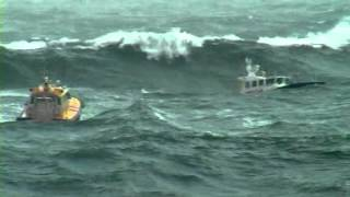 Download Big storm, pilot boats in 10m waves Video