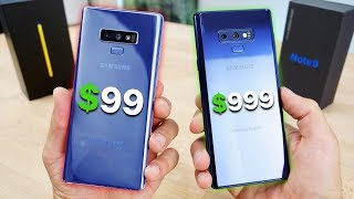 Download $99 Fake Samsung Galaxy Note 9 vs $999 Note 9! Video
