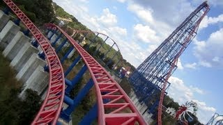 Download Superman - Ride Of Steel front seat on-ride HD POV Six Flags America Video