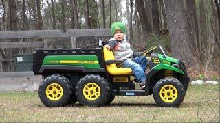 Download PEG PEREGO JOHN DEERE GATOR 6x4 RIDE-ON VEHICLE FOR KIDS Video