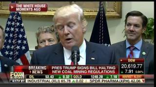Download EPIC! Trump Brings Coal Miners to Executive Order Rescuing Coal Mines from Liberal Politicians Video