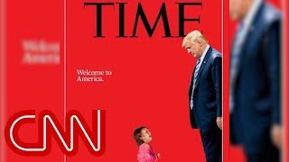 Download New Time cover shows Trump towering over a sobbing toddler Video